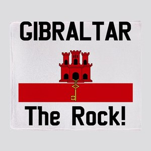 Gibraltar - Front and Back Throw Blanket