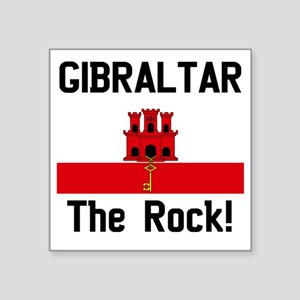 """Gibraltar - Front and Back Square Sticker 3"""" x 3"""""""