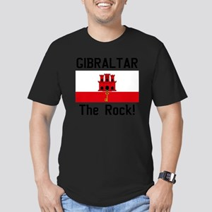 Gibraltar - Front and  Men's Fitted T-Shirt (dark)
