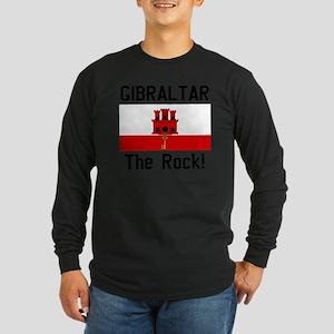 Gibraltar - Front and Bac Long Sleeve Dark T-Shirt