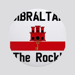Gibraltar - Front and Back Round Ornament