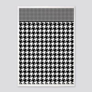 Black | White Houndstooth Pattern 5'x7'Area Rug