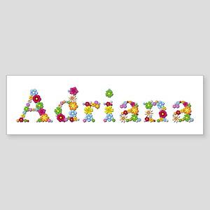 Adriana Bright Flowers Bumper Sticker
