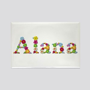 Alana Bright Flowers Rectangle Magnet