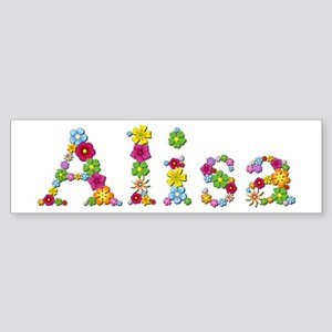 Alisa Bright Flowers Bumper Sticker