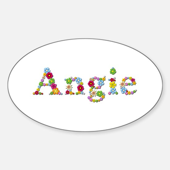 Angie Bright Flowers Oval Decal