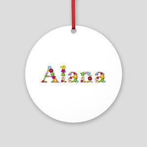 Alana Bright Flowers Round Ornament