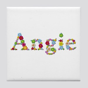 Angie Bright Flowers Tile Coaster