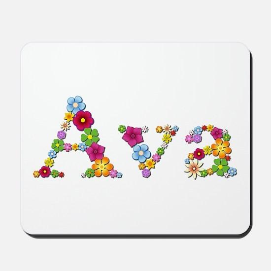 Ava Bright Flowers Mousepad