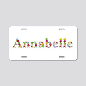 Annabelle Bright Flowers Aluminum License Plate