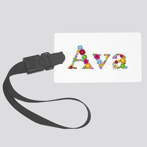 Ava Bright Flowers Large Luggage Tag