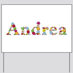 Andrea Bright Flowers Yard Sign