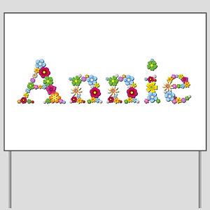 Annie Bright Flowers Yard Sign