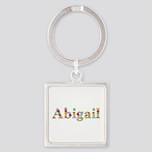 Abigail Bright Flowers Square Keychain