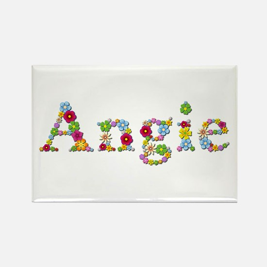 Angie Bright Flowers Rectangle Magnet 100 Pack