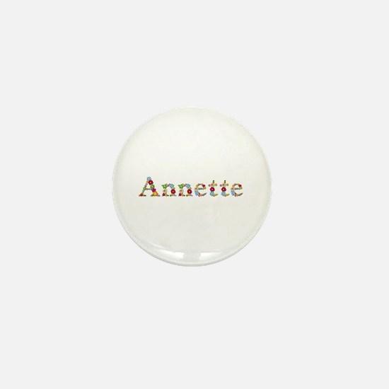 Annette Bright Flowers Mini Button