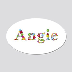 Angie Bright Flowers 20x12 Oval Wall Decal