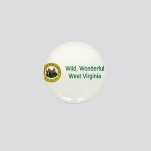 West Virginia State Seal #4 Mini Button