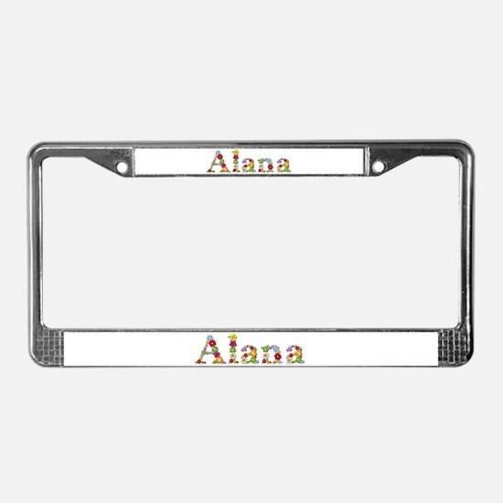 Alana Bright Flowers License Plate Frame
