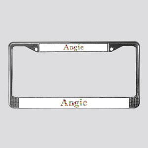 Angie Bright Flowers License Plate Frame