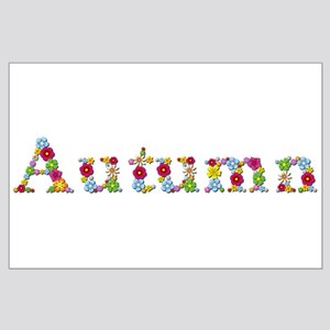 Autumn Bright Flowers Large Poster
