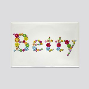 Betty Bright Flowers Rectangle Magnet