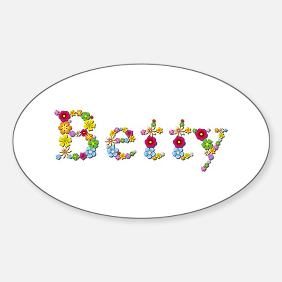 Betty Bright Flowers Oval Decal