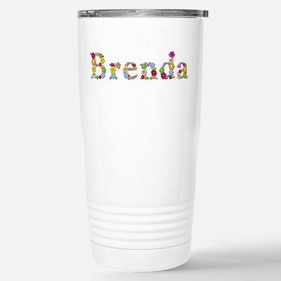 Brenda Bright Flowers Stainless Steel Travel Mug