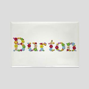 Burton Bright Flowers Rectangle Magnet