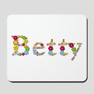 Betty Bright Flowers Mousepad