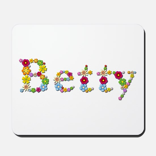 Betty Bright Flowers Mousepad