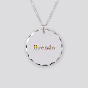 Brenda Bright Flowers Necklace Circle Charm