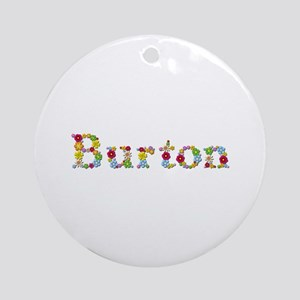 Burton Bright Flowers Round Ornament