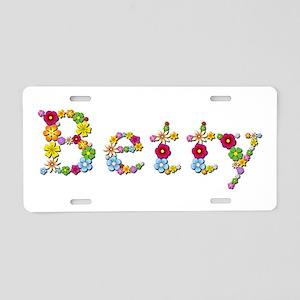 Betty Bright Flowers Aluminum License Plate