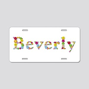 Beverly Bright Flowers Aluminum License Plate