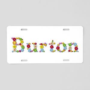 Burton Bright Flowers Aluminum License Plate
