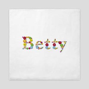 Betty Bright Flowers Queen Duvet