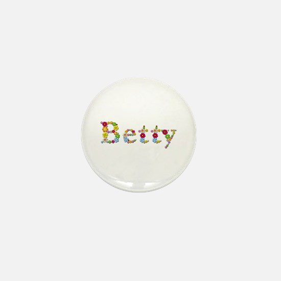 Betty Bright Flowers Mini Button