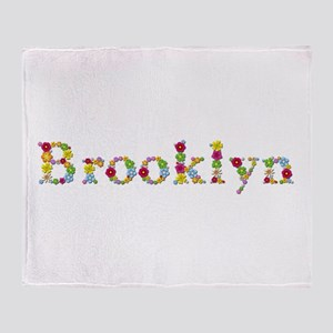 Brooklyn Bright Flowers Throw Blanket