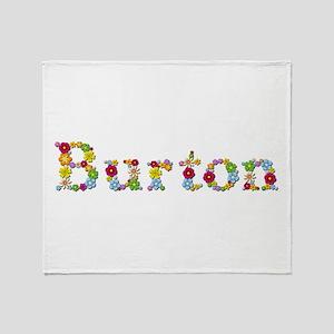 Burton Bright Flowers Throw Blanket