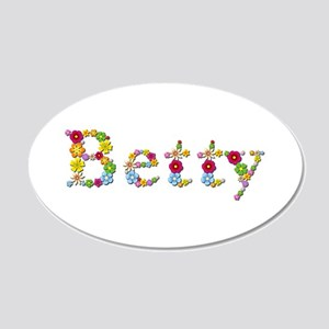 Betty Bright Flowers 20x12 Oval Wall Decal