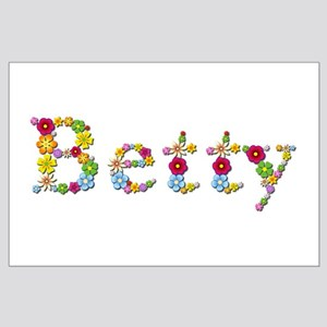 Betty Bright Flowers Large Poster