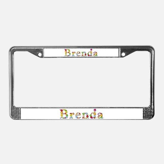 Brenda Bright Flowers License Plate Frame