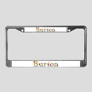 Burton Bright Flowers License Plate Frame