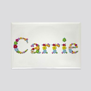 Carrie Bright Flowers Rectangle Magnet