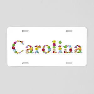 Carolina Bright Flowers Aluminum License Plate