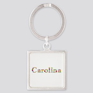 Carolina Bright Flowers Square Keychain