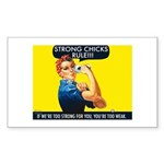 Strong Chicks Sticker