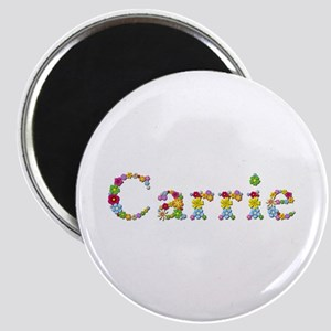 Carrie Bright Flowers Round Magnet