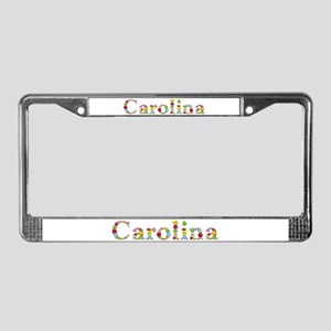 Carolina Bright Flowers License Plate Frame